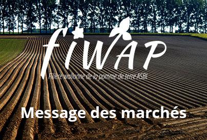Message hebdomadaire de la Fiwap du 12 janvier 2021