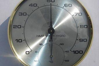 Thermo-hygromètre à cheveux synthétique