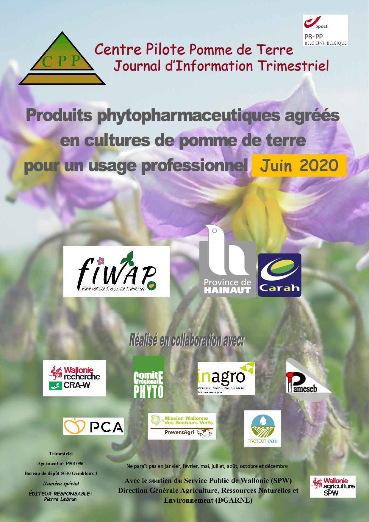 Liste Produits Phyto 2020 (mise à jour juin 2020)