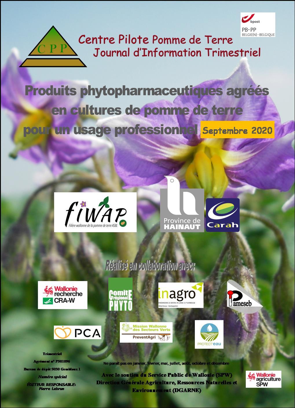 Liste des produits phyto (mise à jour septembre 2020)