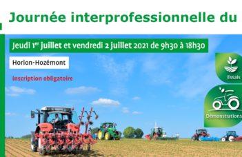 Jeudi 1er et Vendredi 2 juillet 2021 : journées interprofessionnelles bio à Horion-Hozémont